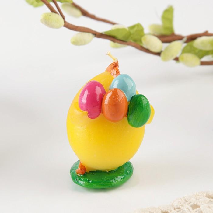Свеча пасхальная «Цыплёнок с яйцами»