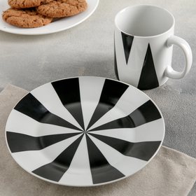 "Набор посуды ""Цирк"", 2 предмета: кружка 300 мл, тарелка"