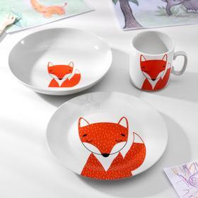 Набор посуды «Лисёнок», 3 предмета