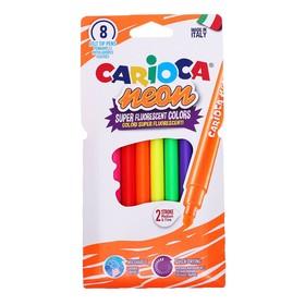 """Фломастеры 8 цветов Carioca """"Neon"""" неоновая палитра, смываемые,  картон, европодвес"""