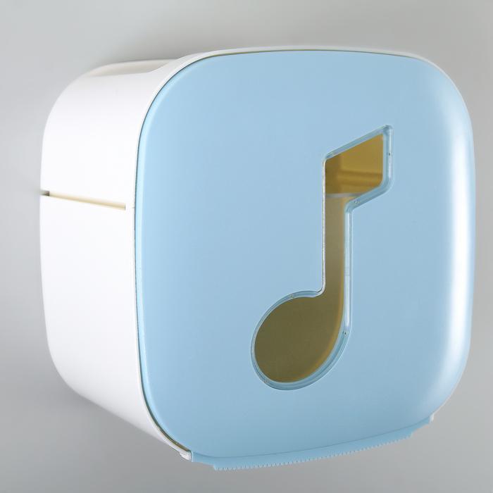 """Держатель для туалетной бумаги """"Мелодия"""", цвет голубой"""