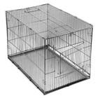 """Клетка-переноска """"Хантер"""" №2, с металлическим поддоном, хром, складная, 60 х 40 х 42 см"""
