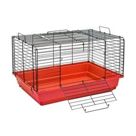 """Клетка для кроликов и морских свинок """"Тишка-2"""", чёрная, складная, 58 х 40 х 36 см, микс"""