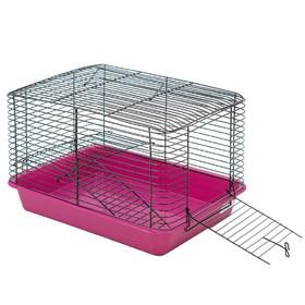 """Клетка для грызунов """"Дилон-2"""" с этажом, без наполнения, 33 х 24 х 21 см, микс цветов"""