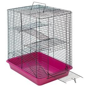 """Клетка для грызунов """"Дилон-4"""" с 3-я этажами, без наполнения, 33 х 24 х 38 см, микс цветов"""
