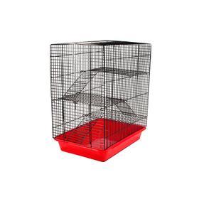 """Клетка для грызунов """"Гоша-4"""" с 3-я этажами, без наполнения, 33 х 24 х 38 см, микс цветов"""