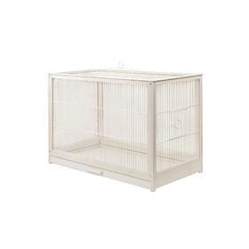 """Клетка для птиц из массива дерева """"Летняя веранда-5"""", укомплектованная, 71х33,5х51 см, белая   45010"""