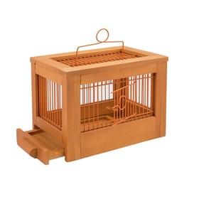 """Клетка для птиц из массива дерева """"Летняя веранда-3"""", укомплектованная, 47,5х27х32 см, клён   450104"""