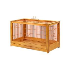 """Клетка для птиц из массива дерева """"Летняя веранда-4"""", укомплектованная, 56 х 30 х 35см, клён   45010"""