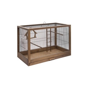"""Клетка-переноска для птиц из массива дерева """"Летняя веранда-1"""", 24,5 х 16 х 18 см, палисандр   45010"""