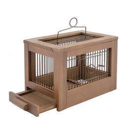 """Клетка для птиц из массива """"Летняя веранда-3"""", укомплектованная, 47,5 х 27 х 32см, палисандр   45010"""