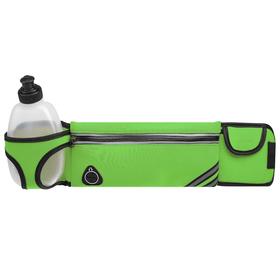 Bag sports belt 45x9 cm with a bottle 15x8x3 cm, 2 pocket, green