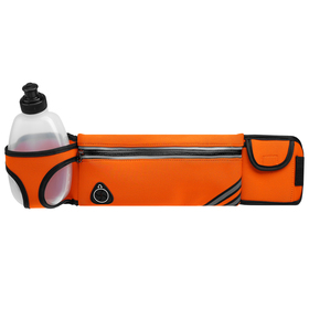 Bag sports belt 45x9 cm with a bottle 15x8x3 cm, 2 pockets, color orange