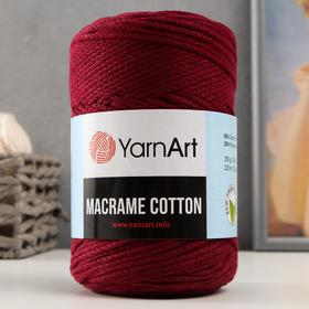 "Пряжа-шнур ""Macrame Cotton"" 15% полиэстер, 85% хлопок 225м/250гр (781 красный)"