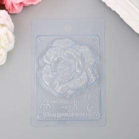 """Пластиковая форма """"Роза фактурная"""" 8,2х8,2х2,5 см"""