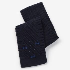 Шарф для девочки, размер 140х14см, цвет синий