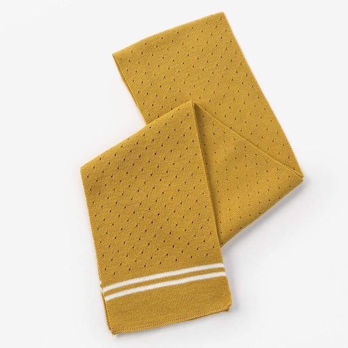 Шарф для девочки, размер 126х14см, цвет горчичный - фото 105568138