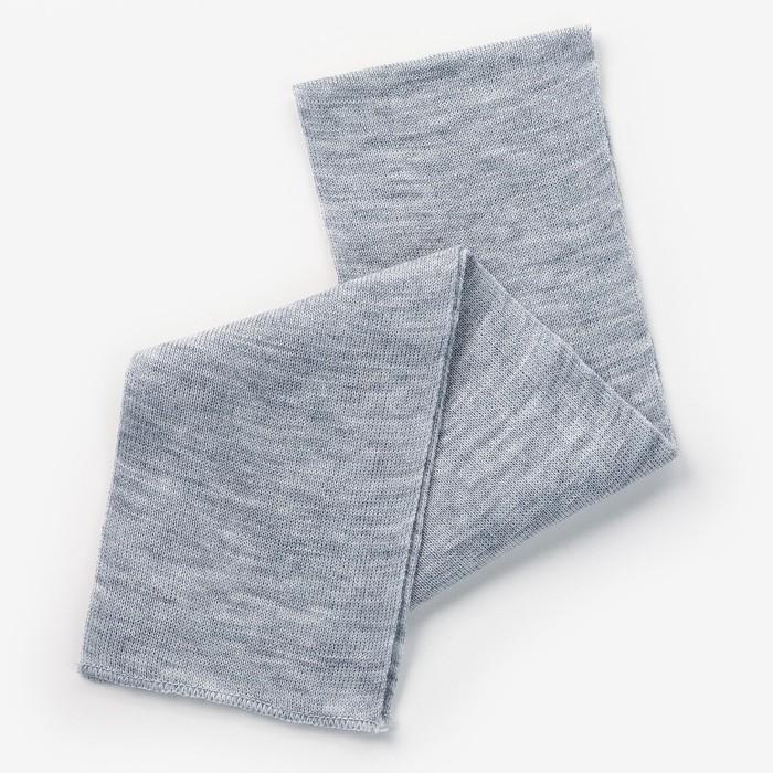Шарф для мальчика, размер 100 х12 см, цвет серый