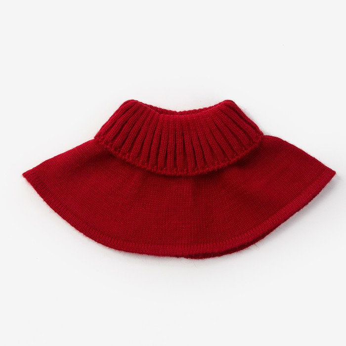 Шарф-манишка для девочки, размер 5-8 лет, цвет красный