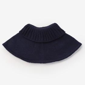 Шарф-манишка для девочки, размер 5-8 лет, цвет синий