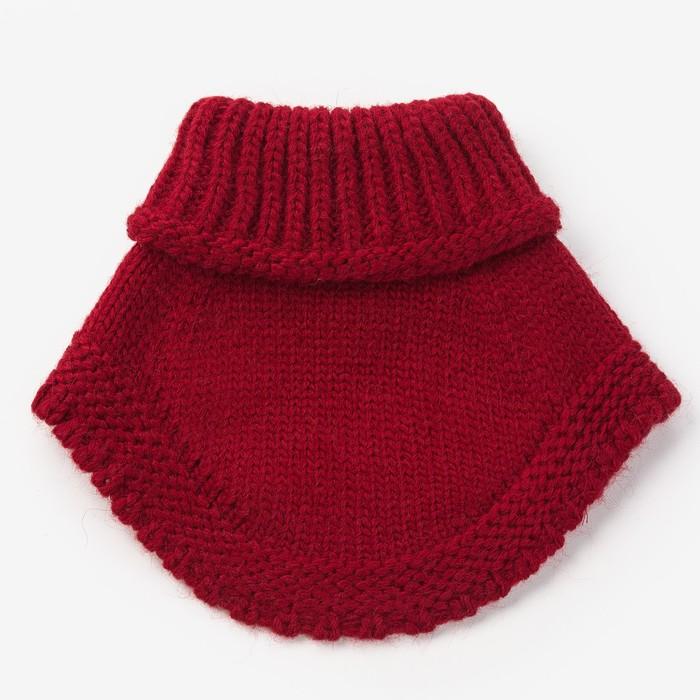 Шарф-манишка для девочки, размер 3-6 лет, цвет красный - фото 105568039