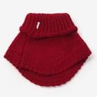 Шарф-манишка для девочки, размер 3-6 лет, цвет красный - фото 105568040