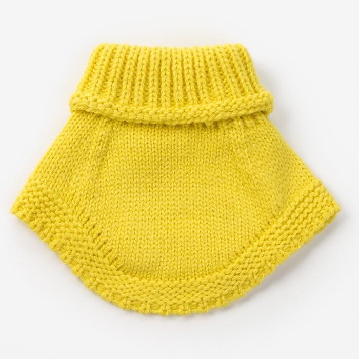 Шарф-манишка для девочки, размер 3-6 лет, цвет лимон - фото 105567999