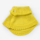 Шарф-манишка для девочки, размер 3-6 лет, цвет лимон - фото 105568000