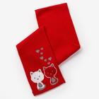Шарф для девочки, размер 130х13 см, цвет красный