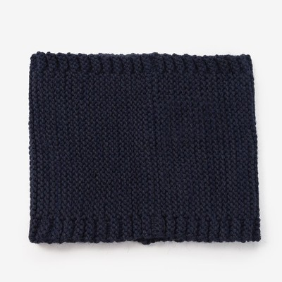 Шарф-снуд для мальчика, размер 48х18 см, цвет синий