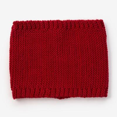Шарф-снуд для девочки, размер 48х18, цвет бордовый