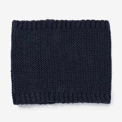 Шарф-снуд для девочки, размер 48х18, цвет синий