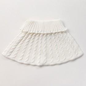 Шарф-манишка для девочки, возраст 3-8 лет, цвет белый
