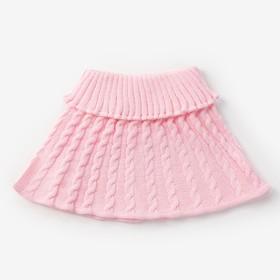 Шарф-манишка для девочки, возраст 3-8 лет, цвет розовый