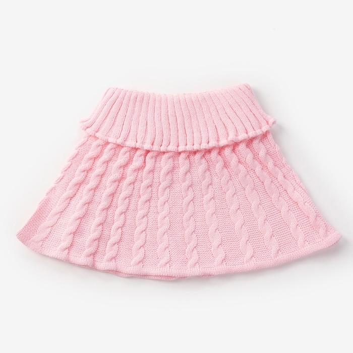 Шарф-манишка для девочки, возраст 3-8 лет, цвет розовый - фото 76214061