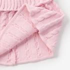 Шарф-манишка для девочки, возраст 3-8 лет, цвет св.розовый - фото 105568019