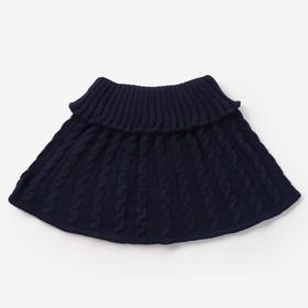 Шарф-манишка для девочки, возраст 3-8 лет, цвет синий