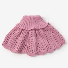 Шарф-манишка для девочки, возраст 2-4 года, цвет сиреневый - фото 105568022