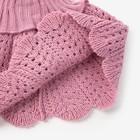 Шарф-манишка для девочки, возраст 2-4 года, цвет сиреневый - фото 105568023