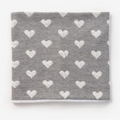 Шарф-снуд для девочки, размер 52х27, цвет серый