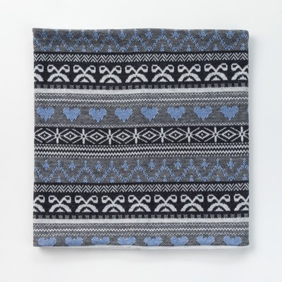 Шарф-снуд для девочки, размер 52х27, цвет голубой