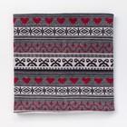 Шарф-снуд для девочки, размер 52х27, цвет красный