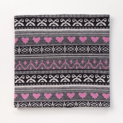 Шарф-снуд для девочки, размер 52х27, цвет ярко розовый
