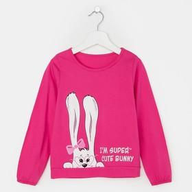 Свитшот для девочки, цвет розовый, рост 104 см