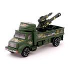 Грузовик инерционный «Военный автовоз» с пушкой - фото 76467013