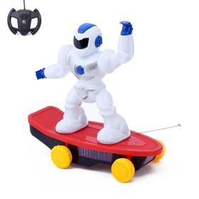 Робот радиоуправляемый «Скейтбордист», световые и звуковые эффекты, работает от батареек, МИКС Ош