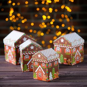 Набор коробок 4в1 «Карамельный дом», 14 х 14 х 17- 9 х 9 х 14 см в Донецке