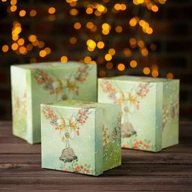 Набор коробок 3 в 1 «Снегурки», 17 х 17 х 12 - 13 х 13 х 10 см в Донецке