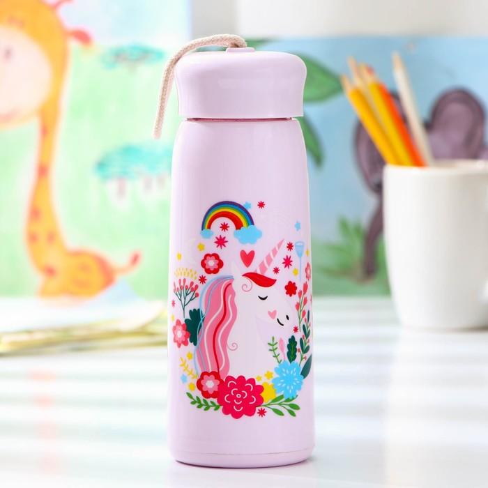 Бутылка «Единорожек», 400 мл, цвет и рисунок МИКС