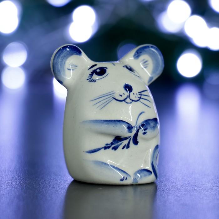 """Фигура """"Мышка"""" 6см, синяя"""